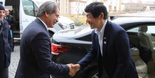 Japon Büyükelçi'den Rektöre Teşekkür