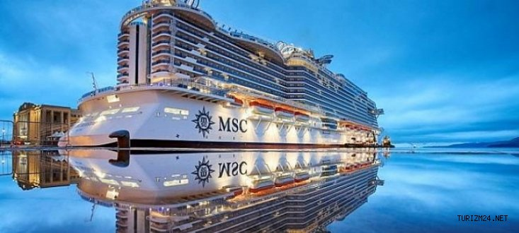 MSC Seaview'in denize indirildi